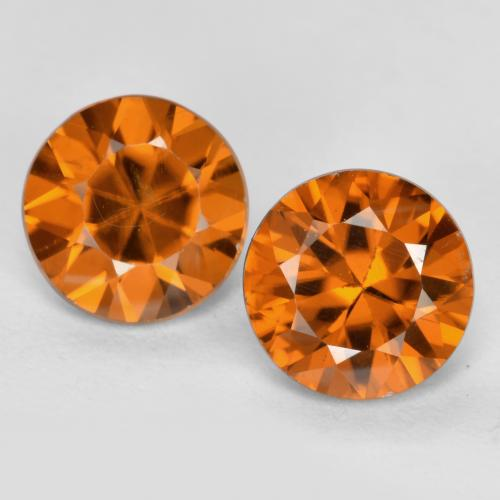 1.2ct Diamond-Cut Deep Orange Zircon Gem (ID: 481927)