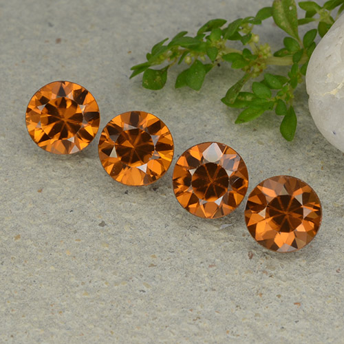 1.2ct Diamond-Cut Medium-Dark Orange Zircon Gem (ID: 481929)
