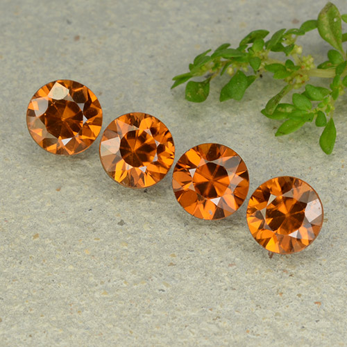 1.2ct Diamond-Cut Medium-Dark Orange Zircon Gem (ID: 481930)