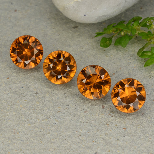 1.1ct Diamond-Cut Medium Orange Zircon Gem (ID: 481931)