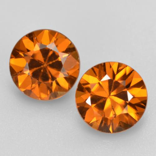 1.2ct Diamond-Cut Medium Orange Zircon Gem (ID: 481932)