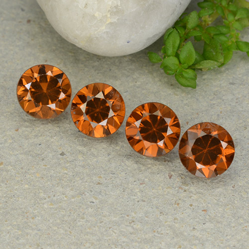 Amber Orange Zircon Gem - 1.2ct Diamond-Cut (ID: 481933)