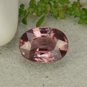 thumb image of 4.2ct Oval Facet Pink Orange Zircon (ID: 482123)