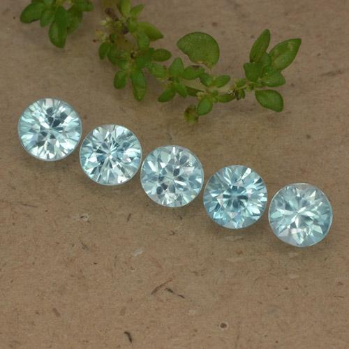 Blue Zircon Gem - 0.4ct Diamond-Cut (ID: 482366)