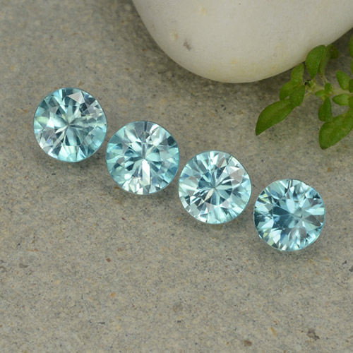 Blue Zircon Gem - 0.5ct Diamond-Cut (ID: 482372)