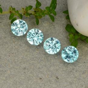 Light Aqua Blue Zirkon Edelstein - 0.4ct Diamanten-Schliff (ID: 482378)