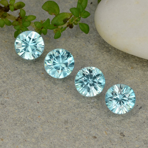 Blue Zircon Gem - 0.5ct Diamond-Cut (ID: 482380)