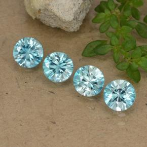 Blue Zircon Gem - 0.5ct Diamond-Cut (ID: 482793)