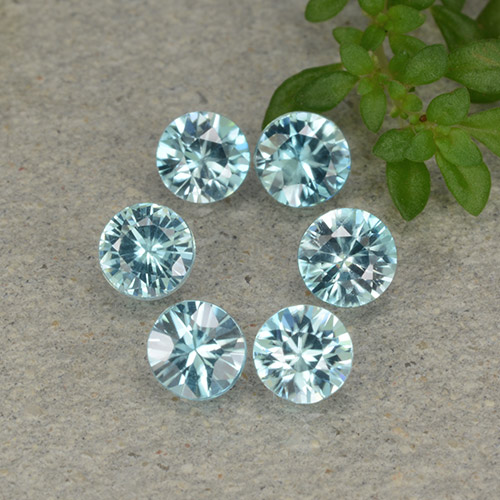 Blue Zircon Gem - 0.4ct Diamond-Cut (ID: 482832)