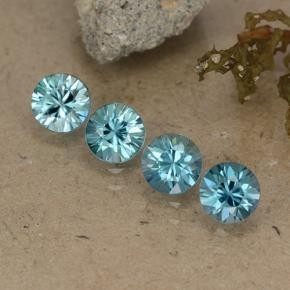 Blue Zircon Gem - 0.6ct Diamond-Cut (ID: 484708)