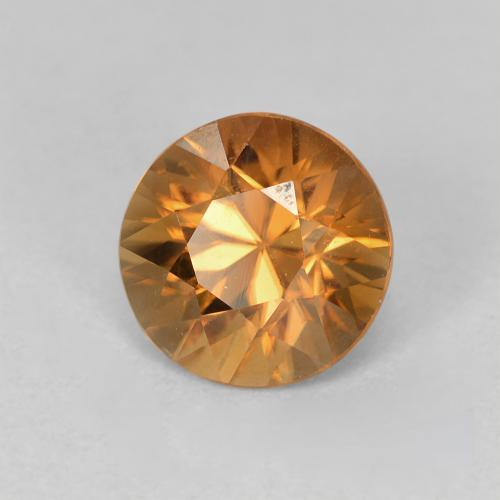 2ct Diamond-Cut Deep Orange Zircon Gem (ID: 488027)