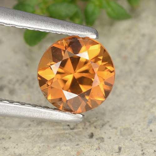 1.2ct Diamond-Cut Medium Orange Zircon Gem (ID: 488036)