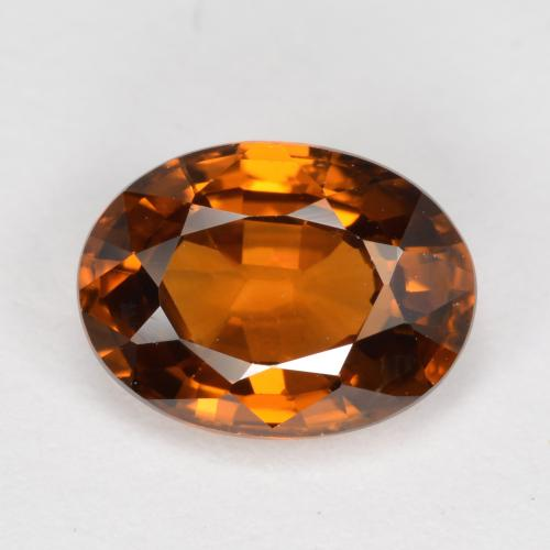 Medium-Dark Orange Circón Gema - 1.8ct Forma ovalada (ID: 488628)