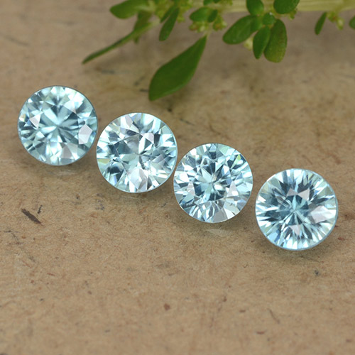 Blue Zircon Gem - 0.5ct Diamond-Cut (ID: 489772)