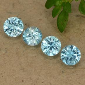 Blue Zircon Gem - 0.4ct Diamond-Cut (ID: 489778)