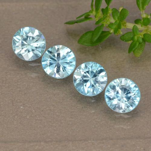 Blue Zircon Gem - 0.5ct Diamond-Cut (ID: 489862)