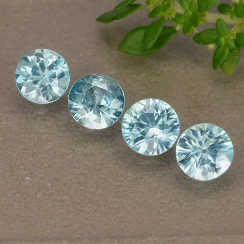 Blue Zircon Gem - 0.4ct Diamond-Cut (ID: 489868)