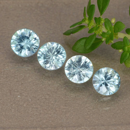 Blue Zircon Gem - 0.4ct Diamond-Cut (ID: 489869)