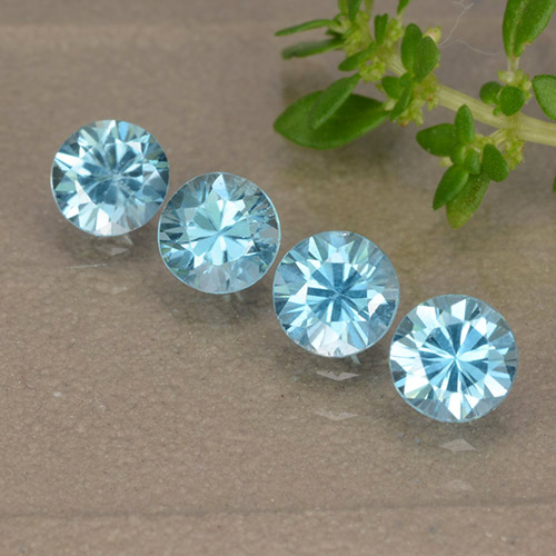 Blue Zircon Gem - 0.5ct Diamond-Cut (ID: 489872)