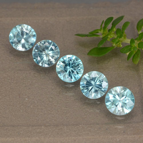 Sky Blue Zircon Gem - 0.6ct Diamond-Cut (ID: 489881)