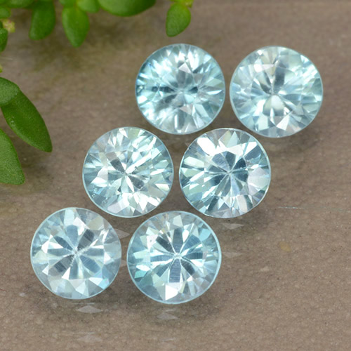 Blue Zircon Gem - 0.5ct Diamond-Cut (ID: 489886)