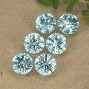 Blue Zircon Gem - 0.5ct Diamond-Cut (ID: 489891)