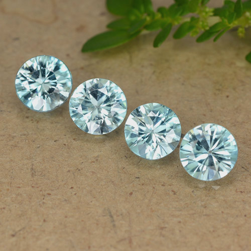 Blue Zircon Gem - 0.6ct Diamond-Cut (ID: 489892)