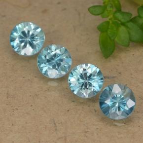 Blue Zircon Gem - 0.6ct Diamond-Cut (ID: 489900)