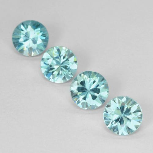 Light Aqua Blue Zirkon Edelstein - 0.6ct Diamanten-Schliff (ID: 489902)