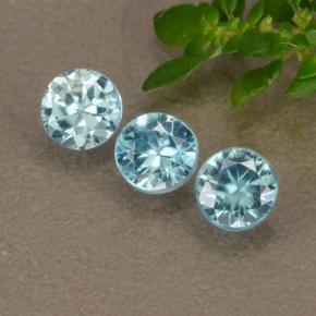 Blue Zircon Gem - 0.4ct Diamond-Cut (ID: 489905)