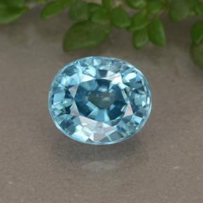 Medium Blue Circón Gema - 2.1ct Forma ovalada (ID: 492709)