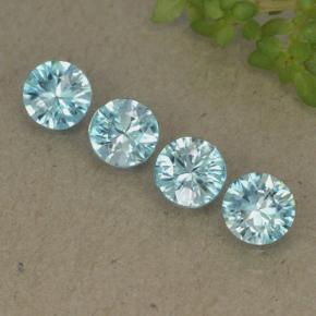 Blue Zircon Gem - 0.5ct Diamond-Cut (ID: 498217)