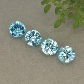 Blue Zircon Gem - 0.5ct Diamond-Cut (ID: 498222)