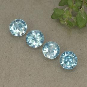 Blue Zircon Gem - 0.3ct Diamond-Cut (ID: 498231)