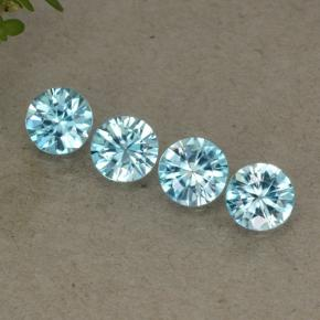 Blue Zircon Gem - 0.5ct Diamond-Cut (ID: 498293)