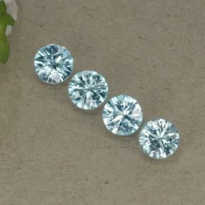Blue Zircon Gem - 0.5ct Diamond-Cut (ID: 498294)