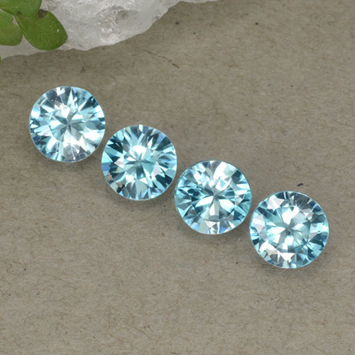 Blue Zircon Gem - 0.5ct Diamond-Cut (ID: 498296)