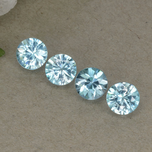 Baby Blue Zircone Gem - 0.5ct Taglio brillante (ID: 498302)