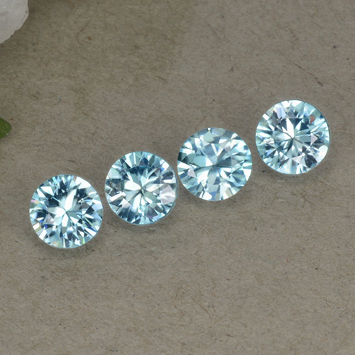 Blue Zircon Gem - 0.5ct Diamond-Cut (ID: 498303)