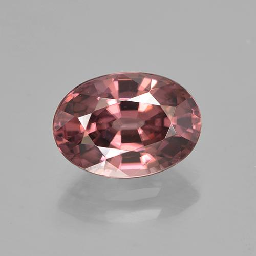 Rose Pink Zircon Gem - 2.9ct Oval Facet (ID: 500926)