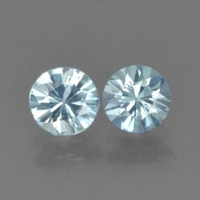 Blue Zircon Gem - 0.6ct Diamond-Cut (ID: 503735)