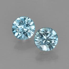 Blue Zircon Gem - 0.5ct Diamond-Cut (ID: 503742)