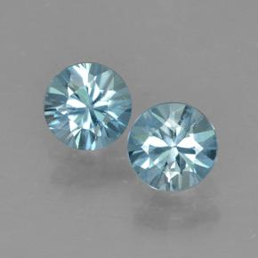 Blue Zircon Gem - 0.6ct Diamond-Cut (ID: 503743)
