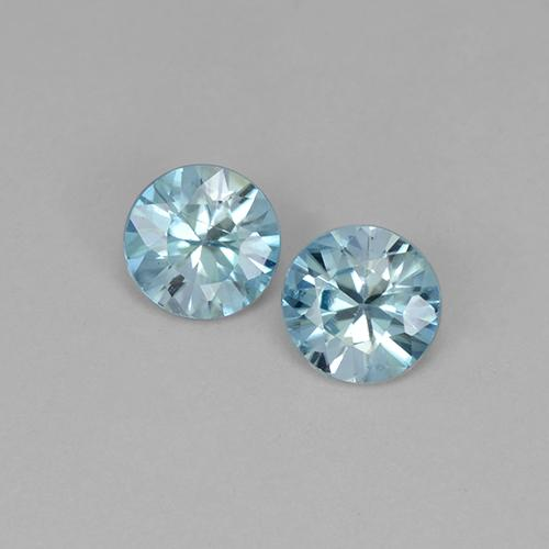 Blue Zircon Gem - 0.5ct Diamond-Cut (ID: 505124)