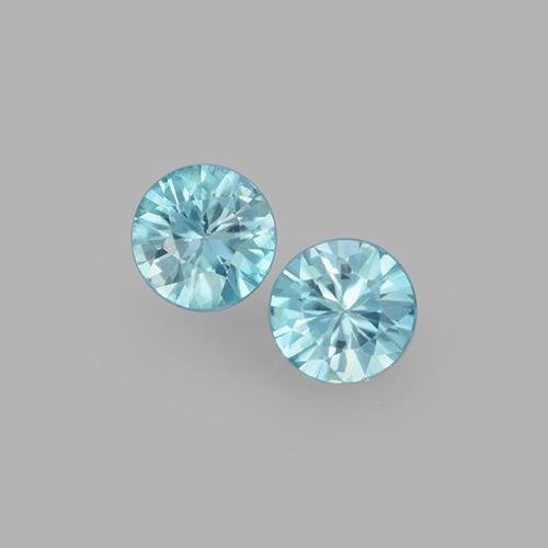 Blue Zircon Gem - 0.5ct Diamond-Cut (ID: 505125)