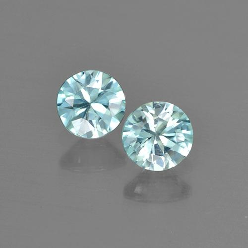 Blue Zircon Gem - 0.5ct Diamond-Cut (ID: 505134)