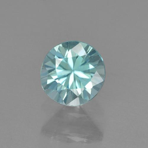 Light Greenish Blue Zircone Gem - 0.6ct Taglio brillante (ID: 505214)