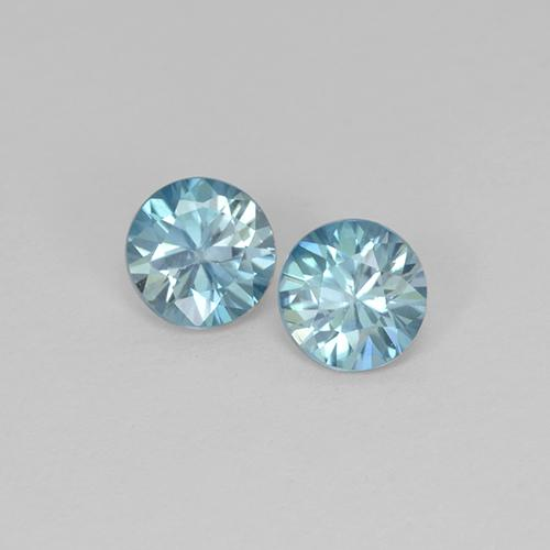 Blue Zircon Gem - 0.5ct Diamond-Cut (ID: 505292)
