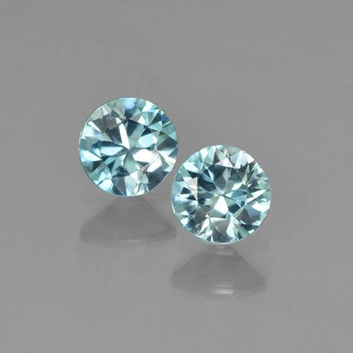 Blue Zircon Gem - 0.4ct Diamond-Cut (ID: 505293)