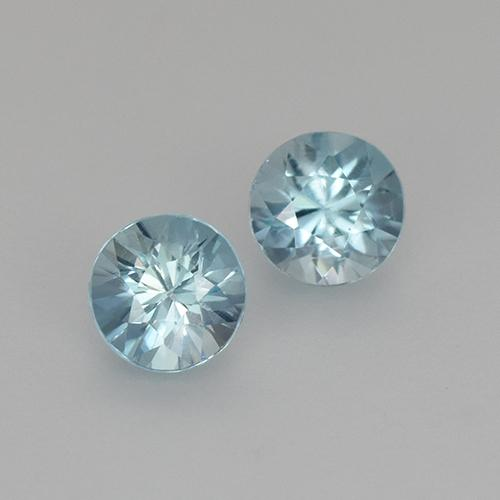 Swiss Blue Zircon Gem - 0.4ct Diamond-Cut (ID: 505298)